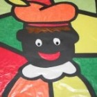 Handvaardigheid rond Sinterklaas, glas-in-lood-Piet