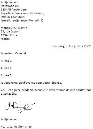 afsluiting formele brief frans formele brief   Canas.bergdorfbib.co
